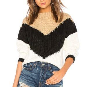 Tularosa Colorblock Chevron Knit Sweater